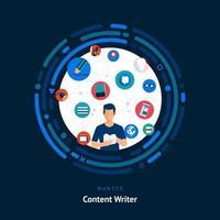 compétences en rédaction de contenu recherchées vecteur