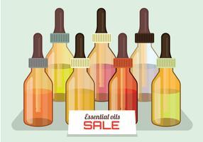 Vecteur de vente d'huiles essentielles