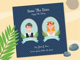 Invitation de mariage de plage