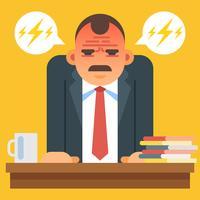 Illustration vectorielle de patron en colère