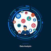 compétences en analyse de données recherchées vecteur