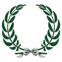illustration de la couronne de laurier attachée avec un ruban vecteur