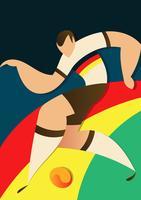 Illustration de joueurs de football Coupe du monde Allemagne vecteur