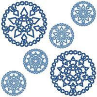 conception d'étoiles imbriquées avec décoration circulaire de style celtique vecteur