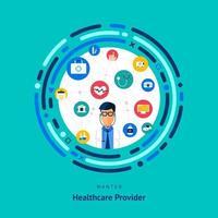 les compétences des professionnels de la santé recherchées vecteur