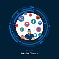 compétences de directeur créatif recherchées vecteur