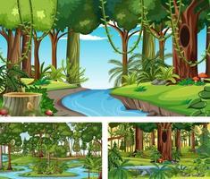 scènes horizontales de nature différente