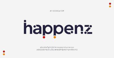 polices de l'alphabet minimal moderne abstrait vecteur