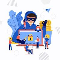 concept de cyber hacker vecteur