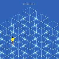 technologie blockchain, argent numérique sécurisé vecteur