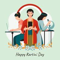 concept de jour de kartini heureux