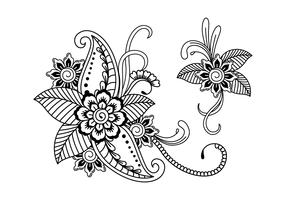 Illustration de l'art au henné vecteur