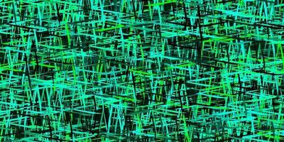 texture de vecteur vert foncé avec des lignes colorées.