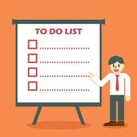 liste de choses à faire vecteur
