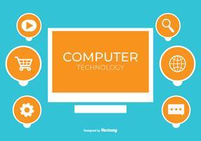 Fond de vecteur de technologie informatique