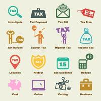 éléments de vecteur de taxe