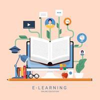 éducation en ligne e-learning vecteur