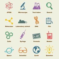 éléments de vecteur de science