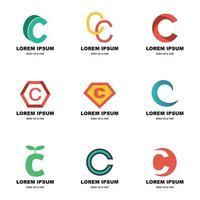 logo alphabet c vecteur