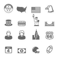 icônes vectorielles de l & # 39; Amérique vecteur