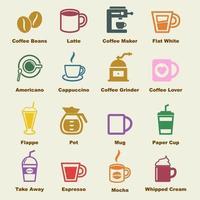 éléments de vecteur de café