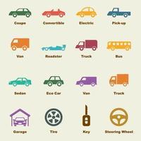 éléments de vecteur de voiture