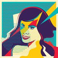 femme pop art vecteur