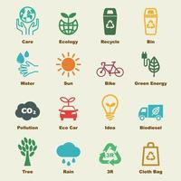 sauver les éléments de la terre vecteur