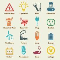 éléments vectoriels électricité