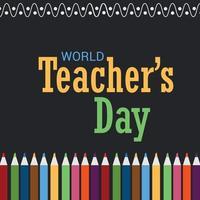 illustration vectorielle d'un arrière-plan pour la journée mondiale des enseignants. vecteur