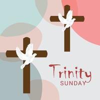 illustration vectorielle d'un fond pour le dimanche de la trinité. vecteur