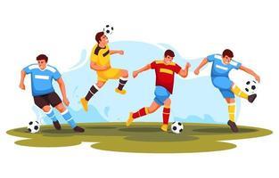 collection de personnages de joueur de football