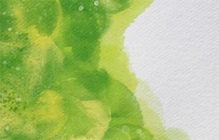 fond vert organique dans un style aquarelle vecteur