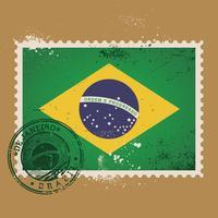 Timbre-poste du Brésil vecteur