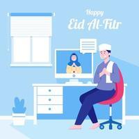 célébration de l'Aïd en situation de pandémie par appel vidéo