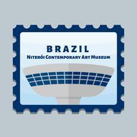 Vecteurs de beau timbre-poste de Brasil vecteur