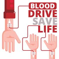 Collecte de sang vecteur