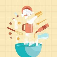 ingrédients pour la cuisson des biscuits