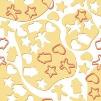 pâte de modèle sans couture avec des formes pour les biscuits et les biscuits de pain d'épice