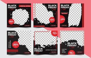 vente de vendredi noir publication sur les médias sociaux vecteur