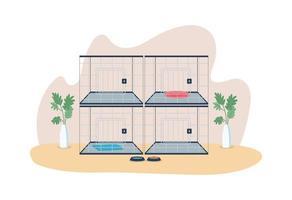 cages vétérinaires bannière web vecteur 2d, affiche