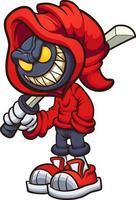 personnage maléfique à capuchon vecteur