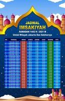 calendrier imsakiyah pour la région de jakarta vecteur