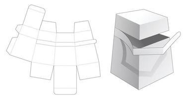 boîte d'obélisque en carton avec gabarit découpé à glissière vecteur