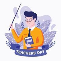 conception du concept de la journée des enseignants vecteur