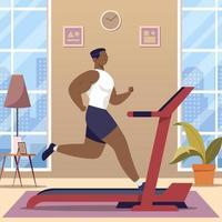 au concept de gym à domicile vecteur