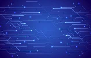 technologie avec fond bleu foncé vecteur
