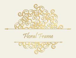 fond de cadre floral décoratif de luxe vecteur