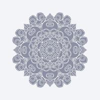 modèle de conception de fond plat mandala vecteur