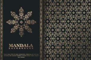 concept de fond de mandala de luxe vecteur